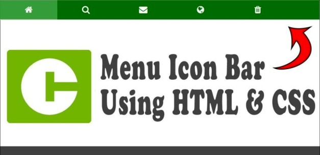 create icon bar with css