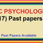 PPSC PSYCHOLOGIST (BS-17) Past papers