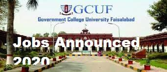 Government College University Faisalabad Jobs 2020