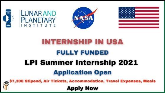LPI Summer Internship 2021