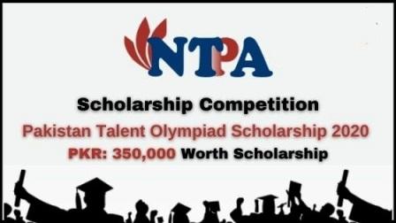 Pakistan Talent Olympiad Scholarship 2020
