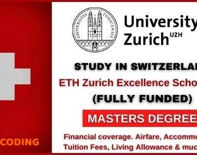ETH Scholarship Switzerland 2021