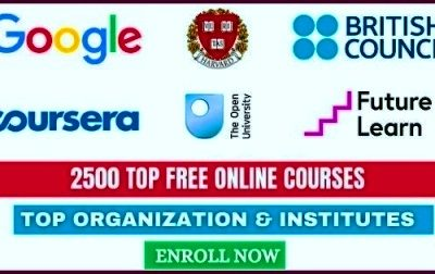 2500 Top Free Online Courses 2021