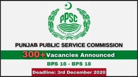 PPSC Jobs November 2020