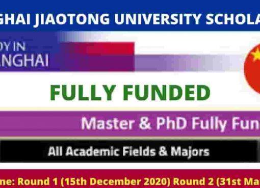Shanghai Jiaotong University Scholarship 2021