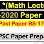 ppsc lecturer math book pdf