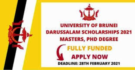University of Brunei Scholarship 2021