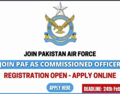 Join PAF as Commissioned Officer 2021