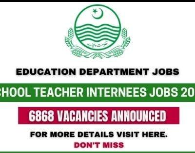 School Teacher Internees Jobs 2021