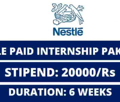 nestle pakistan internship program 2021